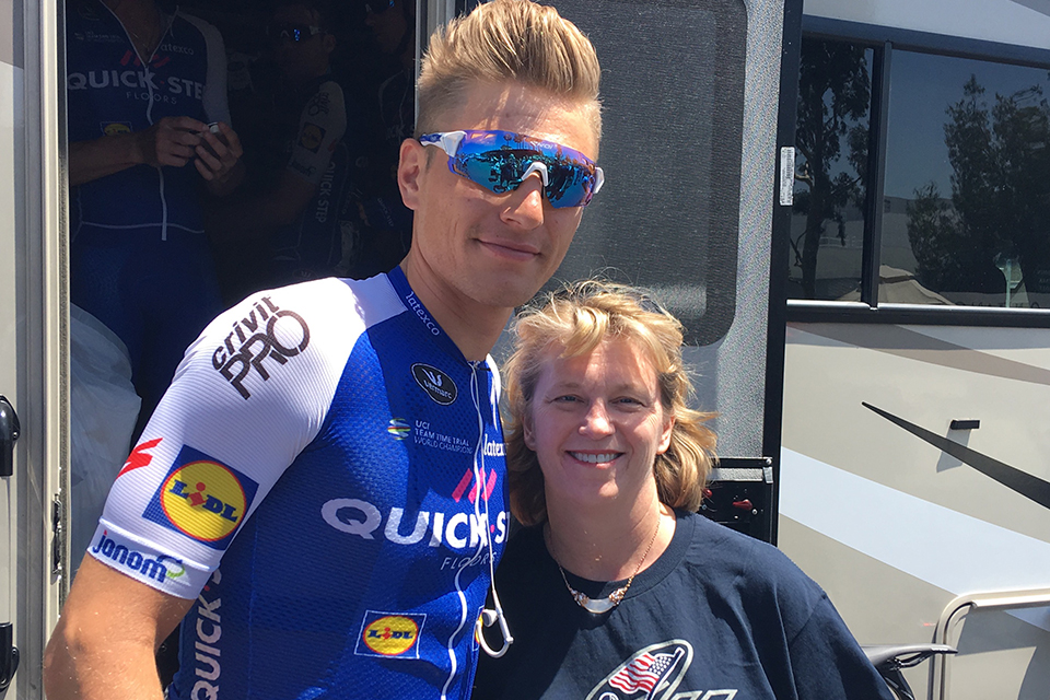 Marcel Kittel and Julie Kerkochian